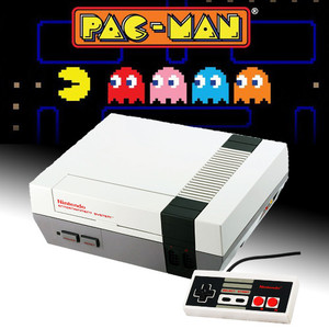 NES Arcade Pak with Pac-Man NES game, original NES console with cords and 1 controller for sale.