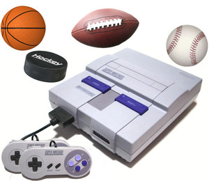 SNES 4 Sports Pak
