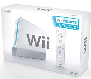 Wii system box with Wii Sports