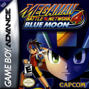 MEga Man Battle Network 4 blue Moon GBA GameMega Man Battle Network 4 Blue Moon - Game Boy Advance