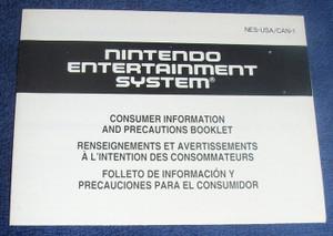 Consumer Information and Precautions - NES Manual