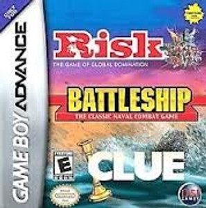 Complete Battleship/Risk/Clue - Game Boy Advance