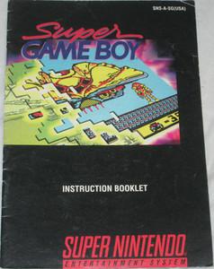 Super GameBoy - SNES Manual
