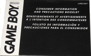 Consumer Information and Precautions - Game Boy Manual