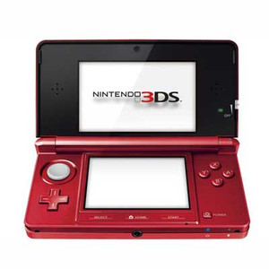 Nintendo 3DS Flare Red Handheld System