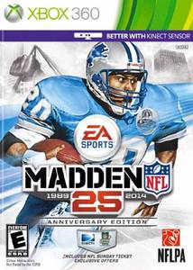 Madden 25 Anniversary Edition - 360 Game