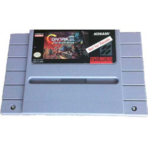 Not For Resale Contra III - SNES Game