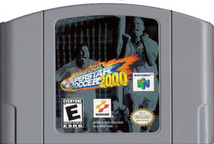 International Superstar Soccer 2000 Nintendo 64 N64 video game cartridge image pic