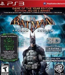 Batman Arkham Asylum Game of the Year Edition - PS3 Game