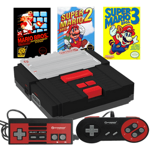 Retron 2 System Console Black Mario 1, 2, 3 Game Bundle Pak