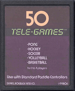 50 Tele Games (Pong Sports) - Atari 2600 Game