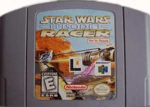 Not For Resale Star Wars Episode 1 Racer - N64 Game