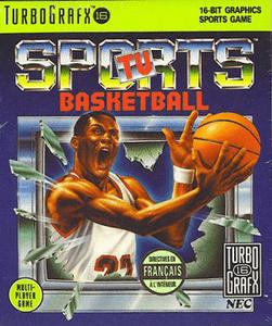 TV Sports Basketball - Turbo Grafx 16 Game