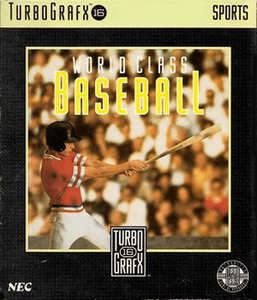 World Class Baseball - Turbo Grafx 16 Game