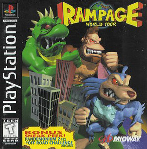 Rampage World Tour PS1 Game
