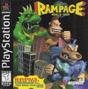 Rampage World Tour PS1 Game