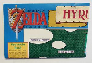 Legend of Zelda Link to the Past Hyrule Overworld SNES Folded Map