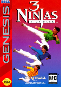 3 Ninjas Kick Back Genesis box cover art
