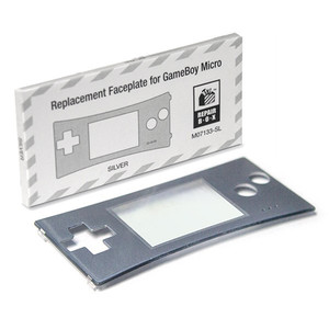 New Replacement Faceplate Silver - Game Boy Advance Micro