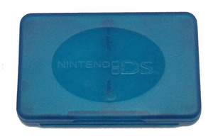 Plastic Game Case Double Hinged Blue - DS