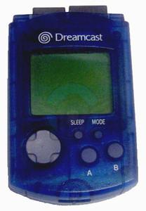 Original VMU Memory Card Blue - Dreamcast