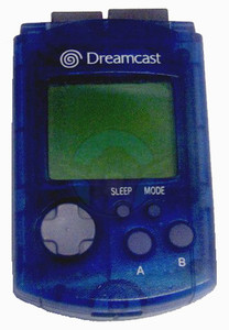 Original VMU Memory Card Blue - Dreamcast