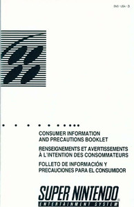 Consumer Information and Precautions - SNES Manual