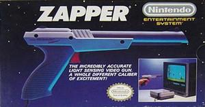 Zapper Gun - Nintendo NES box