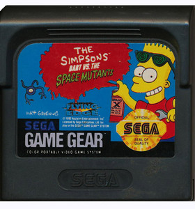Simpsons Bart vs the Space Mutants - Game Gear Game