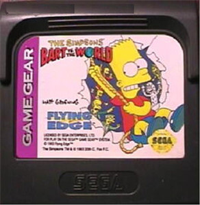 Simpsons Bart vs the World - Game Gear Game