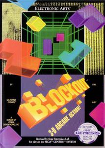 Blockout - Genesis Game Box