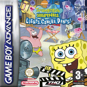 SpongeBob SquarePants Lights Camera Pants - Game Boy Advance Game