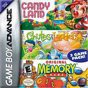 Candy Land, Chutes and Ladders, Memory - Game Boy Advance Game