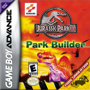 Jurassic Park III Park Builder - Game Boy Advance Game