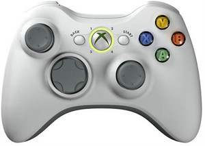 Official Xbox 360 Controller Wireless White - Xbox 360