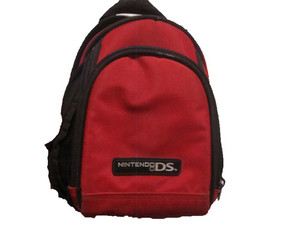 DS Mini Backpack Red Game Bag Carrying Case - Nintendo DS