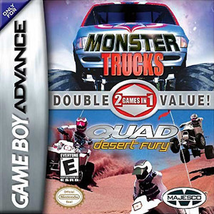 Monster Trucks / Quad Desert Fury Double Pack - Game Boy Advance Game
