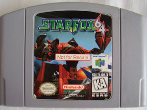 Not For Resale Star Fox 64 - N64 Game