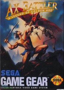 Ax Battler a Legend of Golden Axe - Game Gear Game