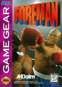 Foreman For Real - Game Gear Game