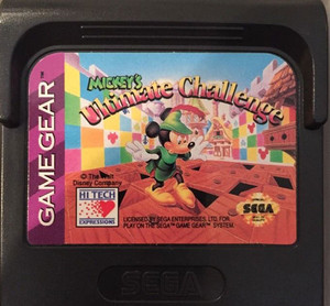 Mickey's Ultimate Challenge - Game Gear Game