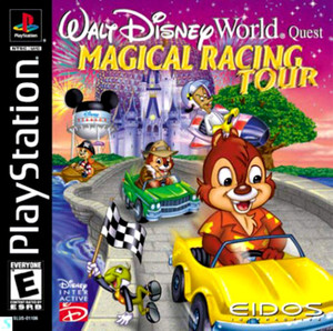 Complete Walt Disney World Quest Magical Racing Tour - PS1 Game