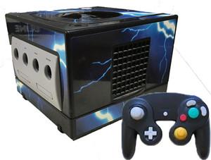 GameCube Black Blue Lightning Skin Player Pak