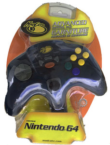 New Mad Catz Clear Blue Advanced Control Pad Controller - N64