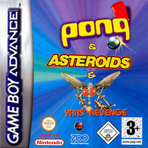 Asteroids/Pong/Yar's Revenge - Game Boy Advance Game