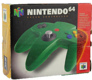 Original Green Controller - Empty N64 Box