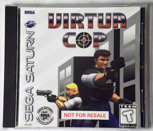 Complete Virtua Cop Not for Resale Sega Saturn game for sale.