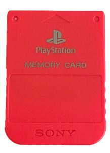 Original Memory Card Red - PS1