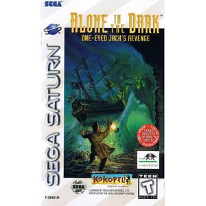 Complete Alone in the Dark One-Eyed Jack's Revenge Sega Saturn complete CIB game for sale.