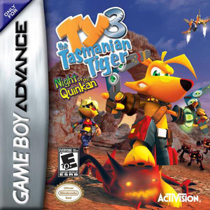 Ty the Tasmanian Tiger 3 Night of the Quinkan - Game Boy Advance Game